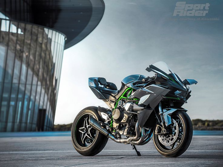 Action, static and detail images of the 2015 Kawasaki Ninja H2R.