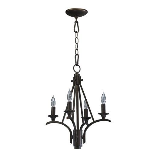 Quorum international 6029 4 86 winslet 4 light chandelier in oiled bronze