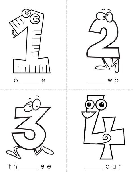 Missing Letters (number words) Mini Book from TwistyNoodle.com