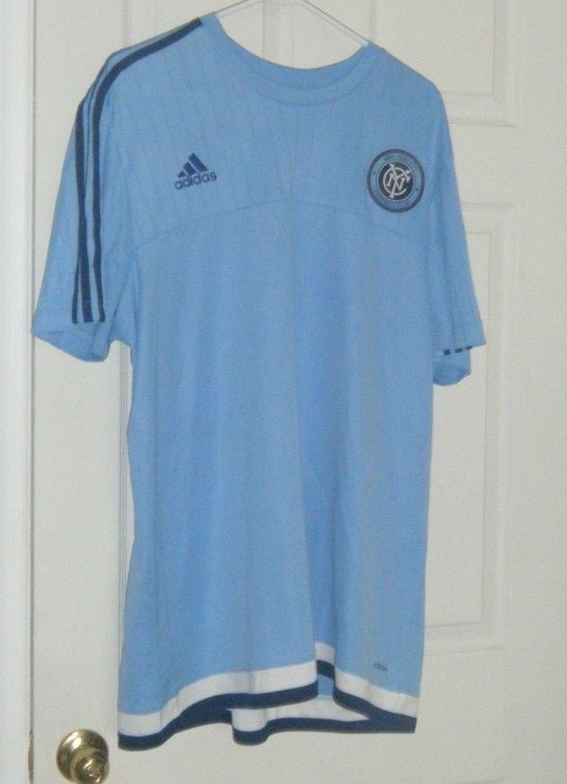 3662444f2ea NYCFC MLS Adidas New York City FC S S Training Jersey Men s Light Blue 2XL  Used  adidas  NewYorkCityFC