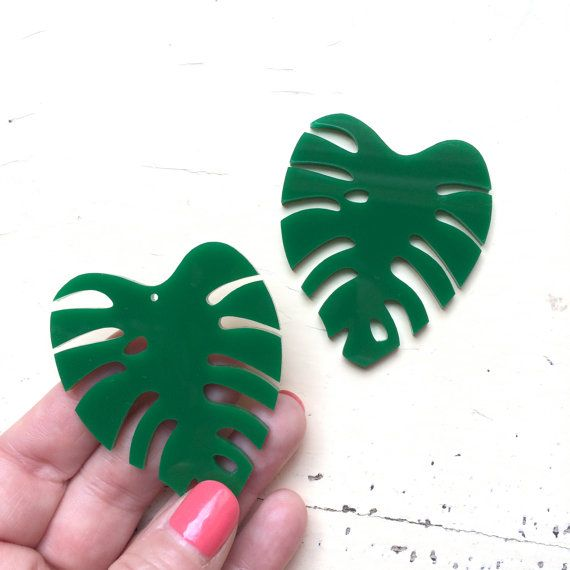 Giant Monstera Leaf Laser Cut  Supplies by CraftyCutsLaser on Etsy