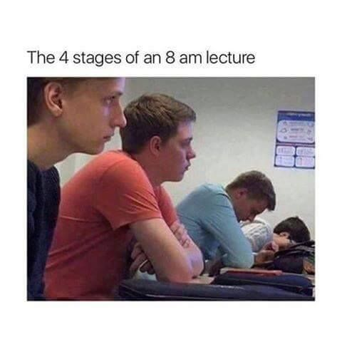 Early morning lecture in the class before exams http://ift.tt/2gjhuHF