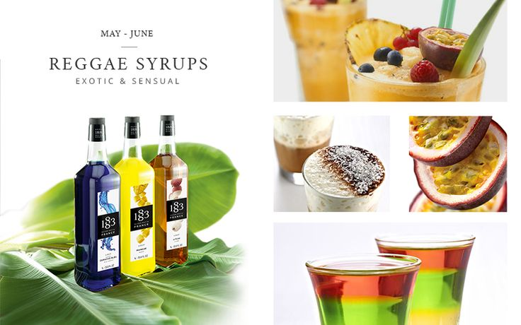 May and June will be focused on… #Reggae syrups! Stay tuned for more exotic recipes :-) http://bit.ly/1QrxiyD