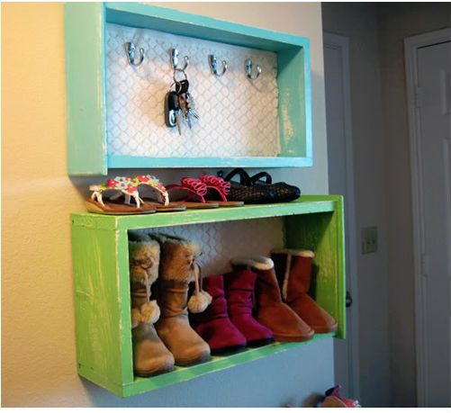 Front Door Storage | Don't Throw Away Those Old Dresser Drawers! Here Are 13 Genius Ways to Repurpose Them Instead!
