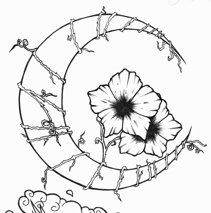 Easy Drawings Of Flowers And Vines 25 best Tattoo outline...