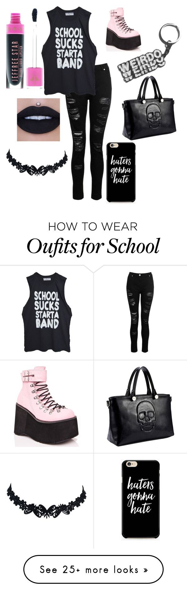 """Be Weird"" by emilychristine87 on Polyvore featuring Dorothy Perkins and Demonia"