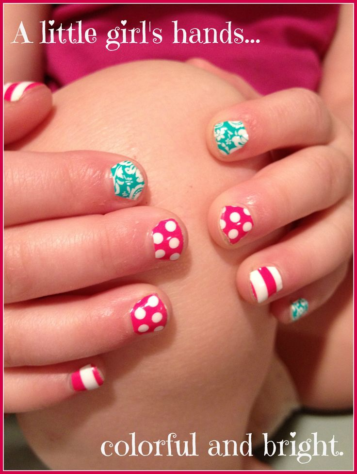 little girls can have cute nails without having to wait for polish to dry see our special designs and sizes just for little girls at or find me on facebook - Little Girl Nail Design Ideas