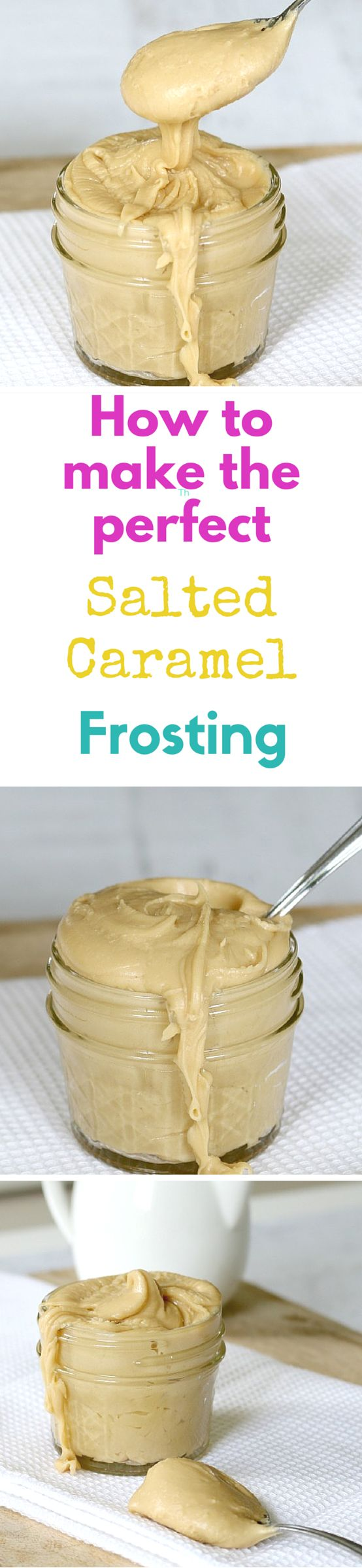 This is the easiest salted caramel frosting recipe ever! It takes no time at all to make and is perfect for icing cakes and cupcakes. Yum!