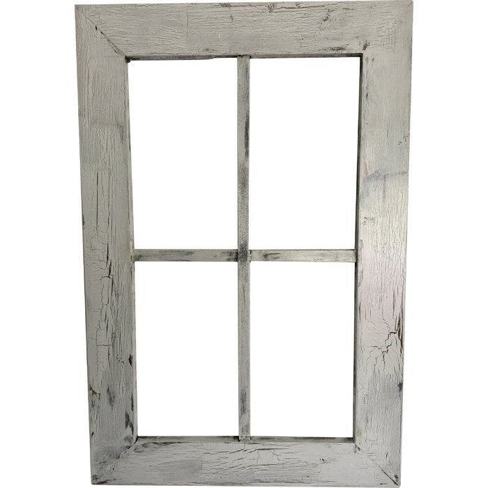 Rustic Wood Window Frame Wall Décor | Window frames, Rustic wood and ...