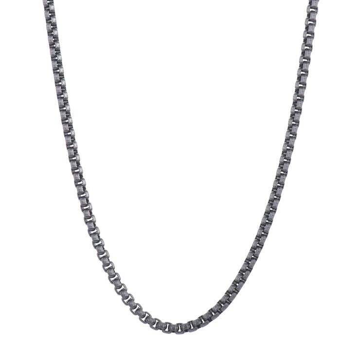 Gents Stainless Steel Antique Grey Chain 22