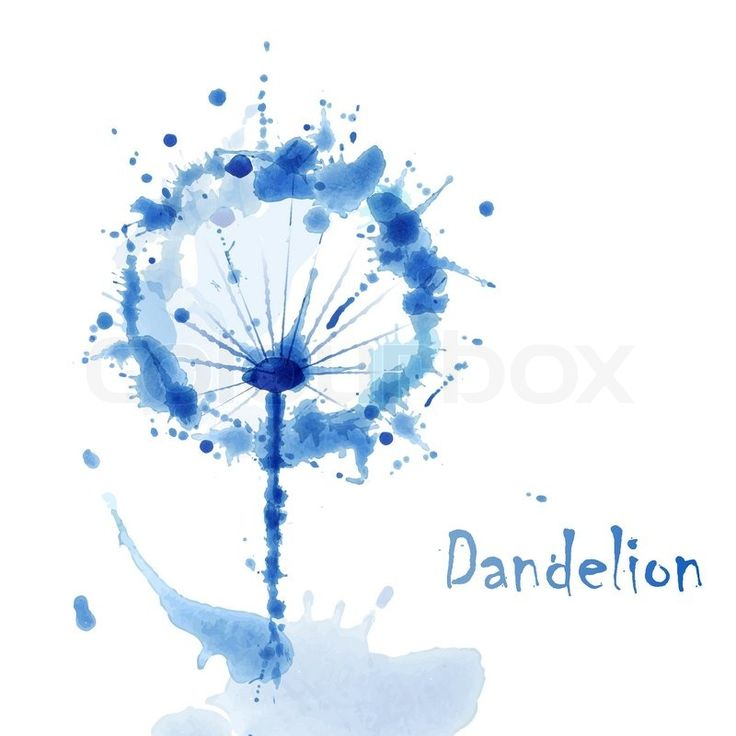 Stock vector of 'Abstract Watercolor art hand paint background with flower dandelion'
