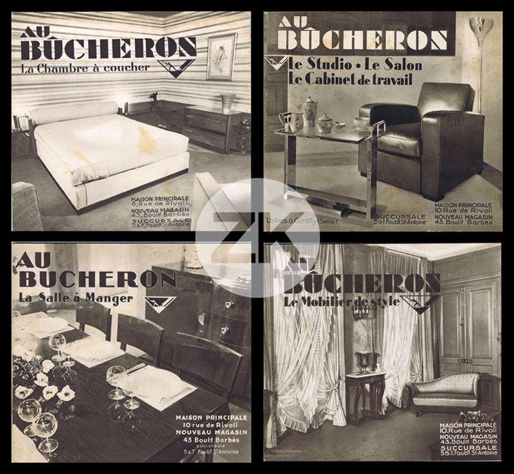 au bucheron meuble art deco d coration magasin paris cassandre 4 catalogues 30s in art. Black Bedroom Furniture Sets. Home Design Ideas