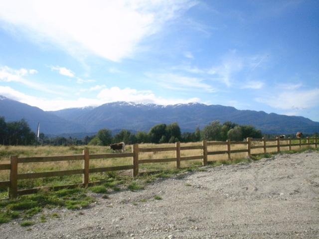 Vista desde casa de Claudia D. en La Junta, Aysén.