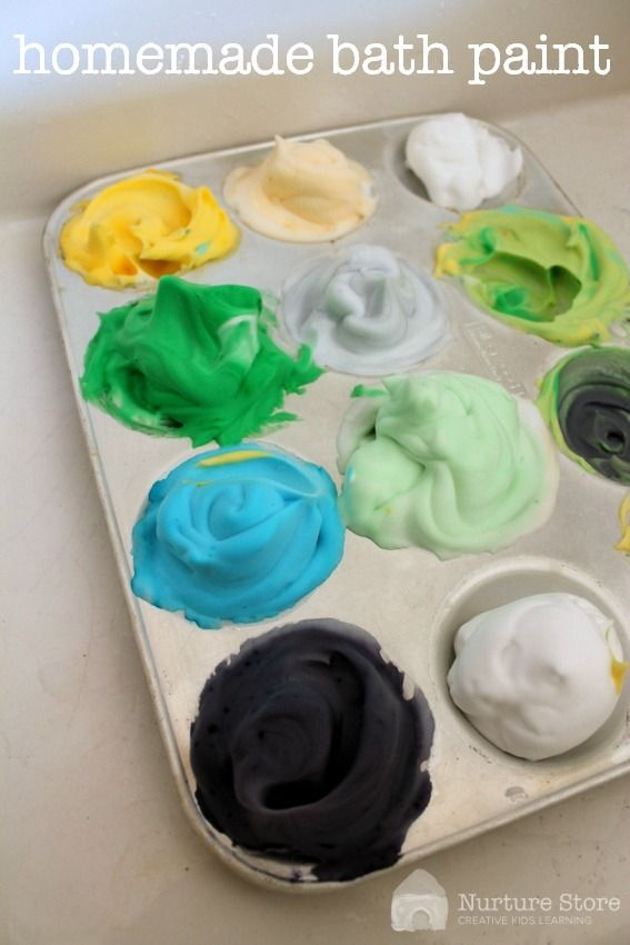 Homemade bath paint recipe :: great for kids sensory play activities #brightbeginningsva