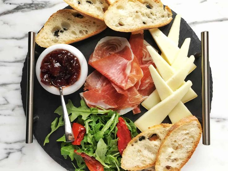 Perfect Platter for One with Bayonne Ham: Bye-bye, sad desk lunches! Here's how to treat yourself to a personal platter, with a little fromage and plenty of Bayonne ham, a prosciutto-like cured meat named after the city of Bayonne in the south west of France.