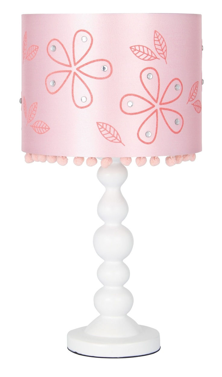 9 best girls rooms images on pinterest girl rooms table lamps pink flower lamp childrens table geotapseo Images