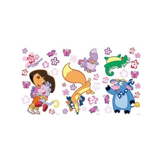 Disney - Dora Wallies Wall Stickers 30-Pack