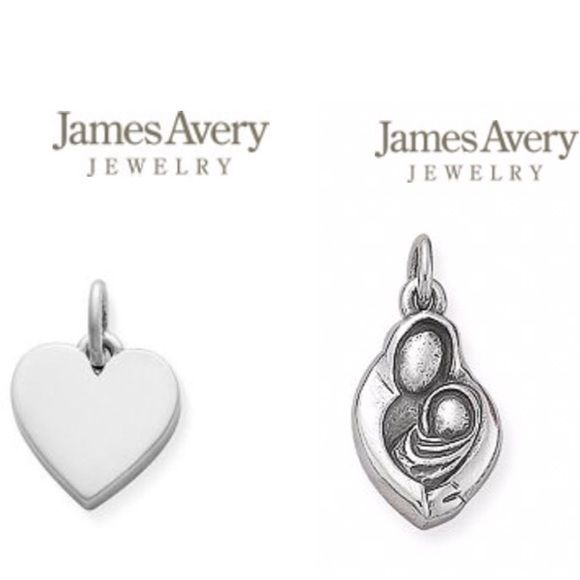 James Avery Charms James Avery Sterling Silver Motherhood & Heart Charms. Great Condition. James Avery Jewelry Bracelets