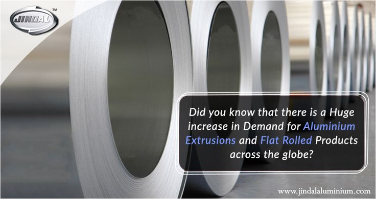 Did you know that there is a huge increase in demand for aluminium extrusions and flat rolled products across the globe? In fact, India is expected to become the second largest consumer of aluminium extrusions and FRPs within the next 3-4 years. Stay tuned to this space to learn more such interesting facts and statistics about aluminium extruded products. #JindalAluminiumLimited #AluminiumExtrusionProducts