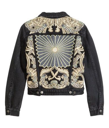 Embroidered Denim Jacket | H&M US