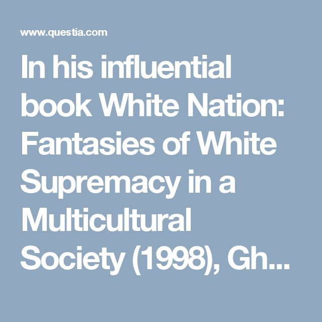 In his influential book White Nation: Fantasies of White Supremacy in a Multicultural Society (1998), Ghassan Hage compares different versions of multiculturalism using an example from a children's book, The Stew that Grew by Michael and Rhonda Gray. The book presents an allegory of Australian cultural diversity: the 'Eureka stew' which features ingredients brought by all the ethnic groups that make up the Australian nation. According to Hage, it is an allegory fraught with ideological…