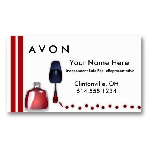 17 best avon business cards templates images on pinterest business nail polish makeup business cards flashek Image collections