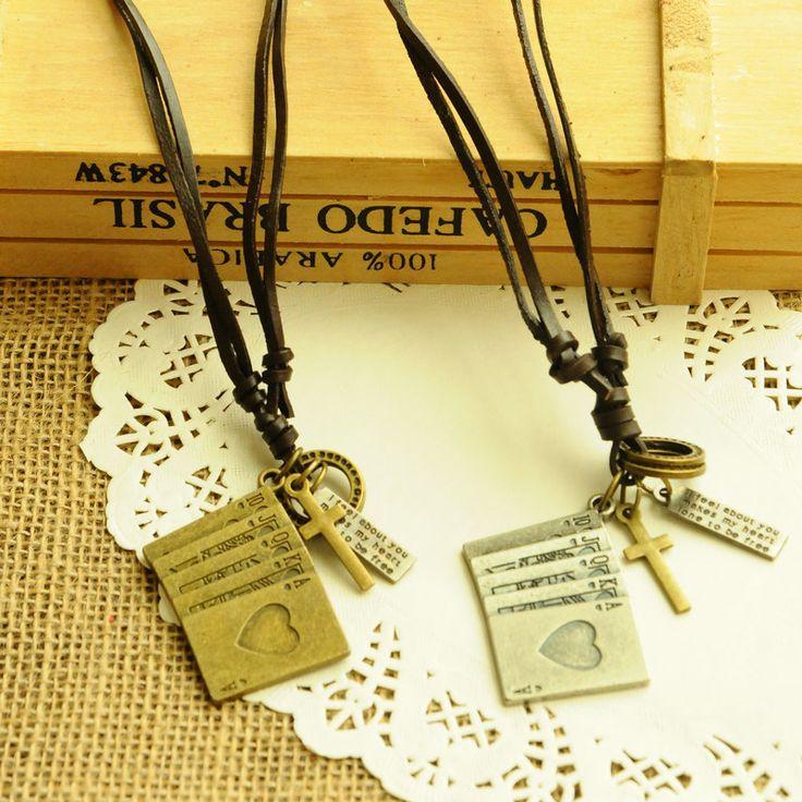 Мужчины и женщины длинные кожи свитер цепи ретро металлические аксессуары из натуральной кожи веревку ожерелья оптовая продажа