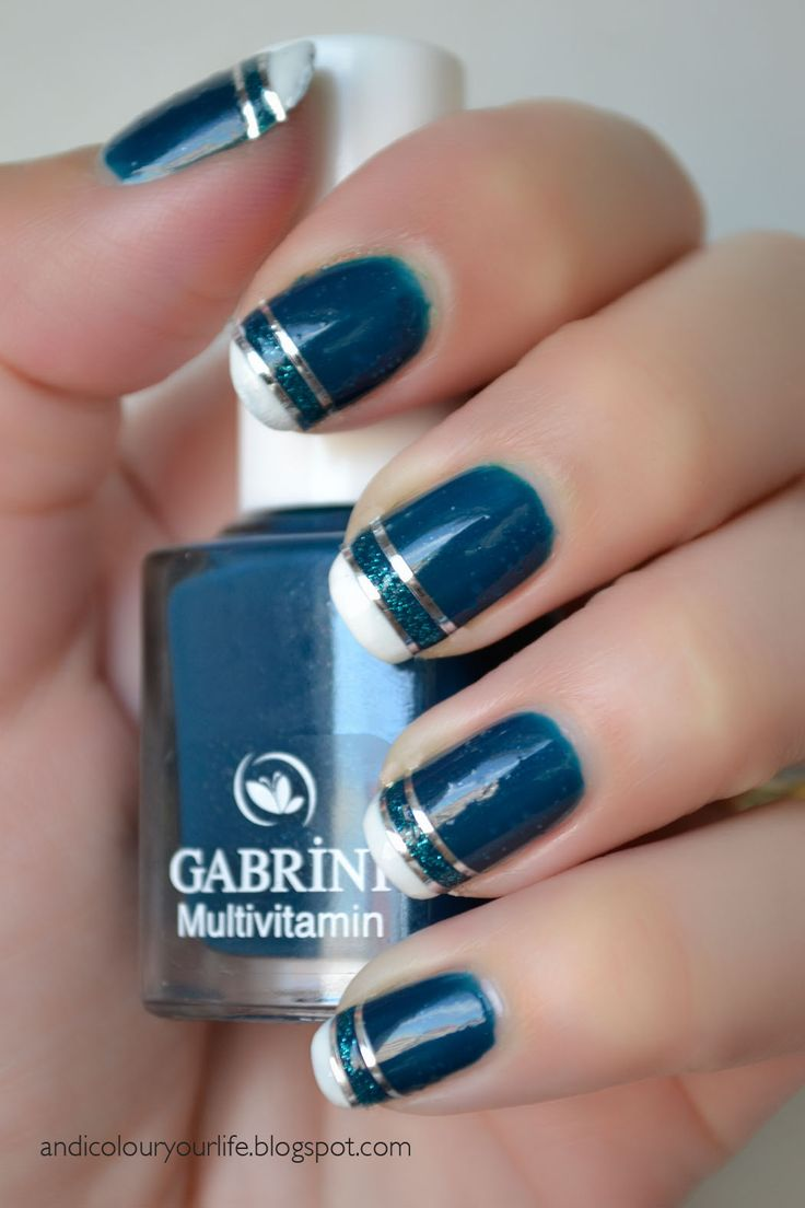 french manicure designs blue picture Colour your life  We love nails   Reverse and french manicures pict