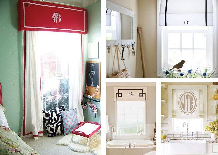 How To Make No Sew Monogrammed Roman Shades