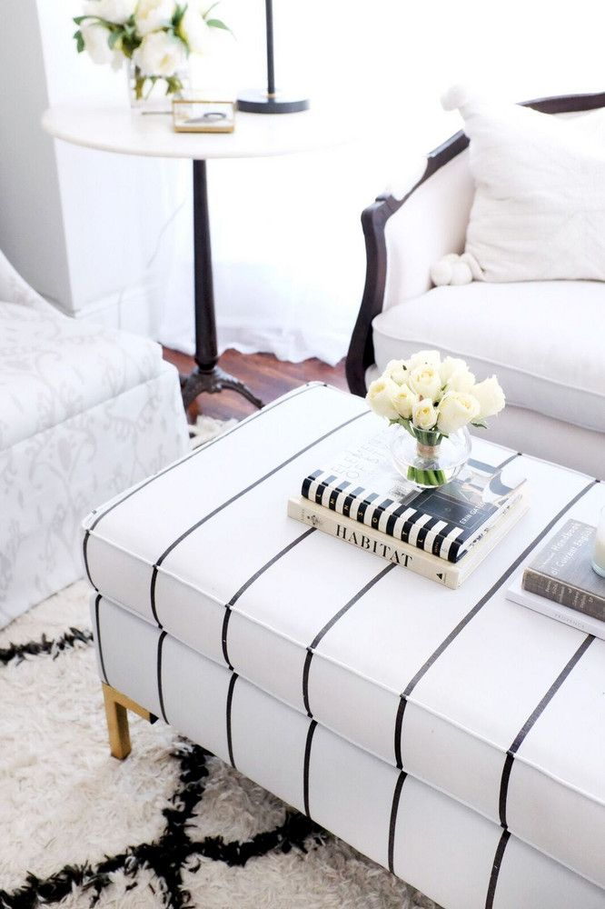 striped ottoman the everygirl furniture
