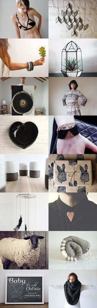 #treasury #Cold outside via @etsy #black and #white #winter--Pinned with TreasuryPin.com