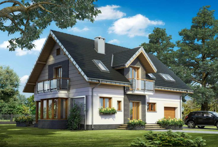 Projekt domu Axel Neo - domek przyciągający uwagę, idealny dla 5 osobowej rodziny