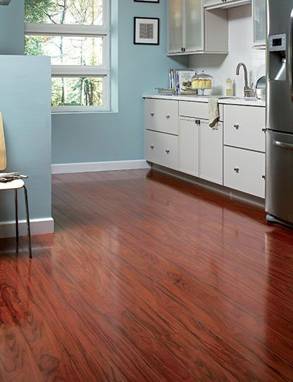 home legend high gloss santos mahogany in w x in l click lock exotic hardwood flooring sq the home depot - Home Legend Flooring
