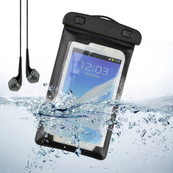 "Underwater Waterproof Case Bag Pouch With Armband for Samsung Galaxy Note 3 / Note 2 / S5 / S4 / Sony Xperia Z2 / LG + VanGoddy Headset With MIC (Black). Ideal for swimming, surfing, kayaking, fishing, snorkeling, skiing & many other activities. Protects securely against fog, water, dust, snow and sand. Adjustable arm bands can be regulated according to the size of your arm. Comes with neck lanyard and Armband. Universal size fits all Large Smartphones up to 5.5"", digital cameras or mp3..."