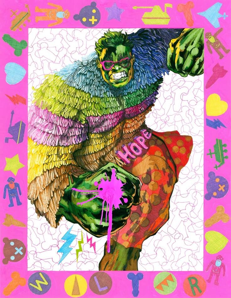 Tryptyk modowy przygotowany na konkurs GrafEx magazynu Exklusiv, cienkopisy, komputer/ Fashion triptych for GrafEx contest - Exklusiv Magazine, felt pens, computer