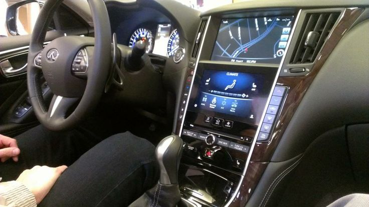 the infiniti q50 with 2 touch screens!