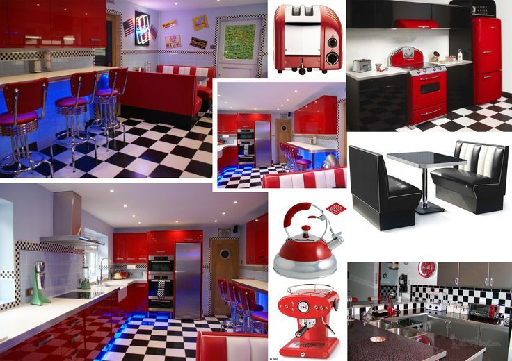 Nice Kitchen About Extraordinary Home Decoration Planner With 50s Diner Kitchen