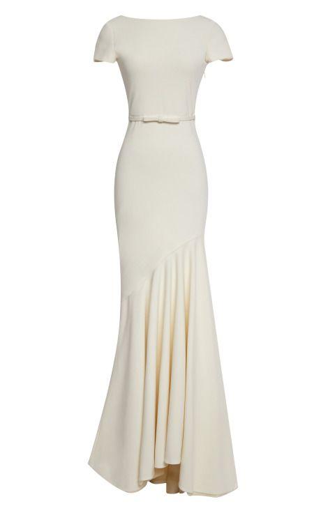 Scoop-Back Tailor Bow Gown by Katie Ermilio - Moda Operandi
