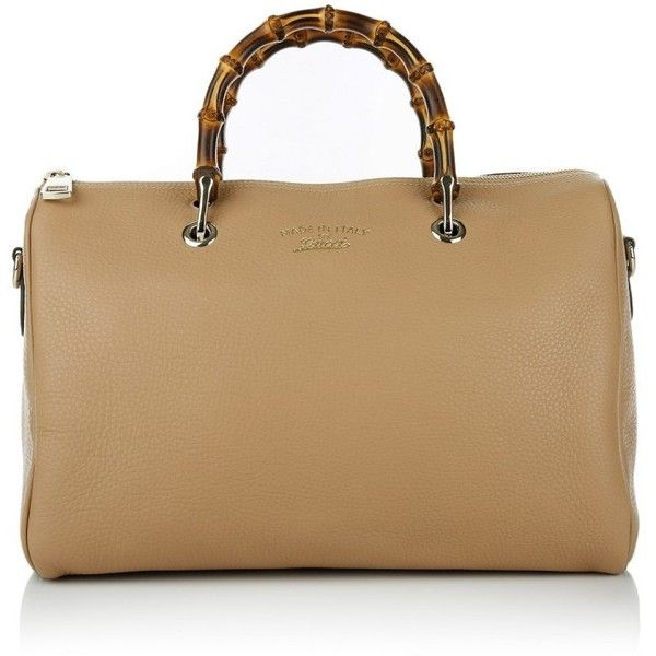 Gucci Handle Bags, Bamboo Boston Bowling Bag Beige (€1.415) ❤ liked on Polyvore featuring bags, handbags, shoulder bags, beige, leather bowling bag, leather shoulder handbags, gucci shoulder bag, bowling bags and top handle handbags