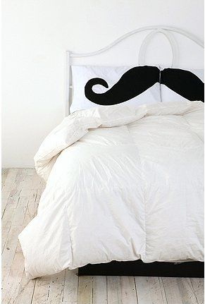Freakin' mustaches are going to take over the world. Mustache Pillow Case.
