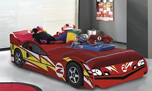 No 2 Red Childrens Car Beds Boys Racing Red Kids Car Bed Frame. Bedz UK http://www.amazon.co.uk/dp/B00CLS6TVI/ref=cm_sw_r_pi_dp_VIUNvb18B3FT3