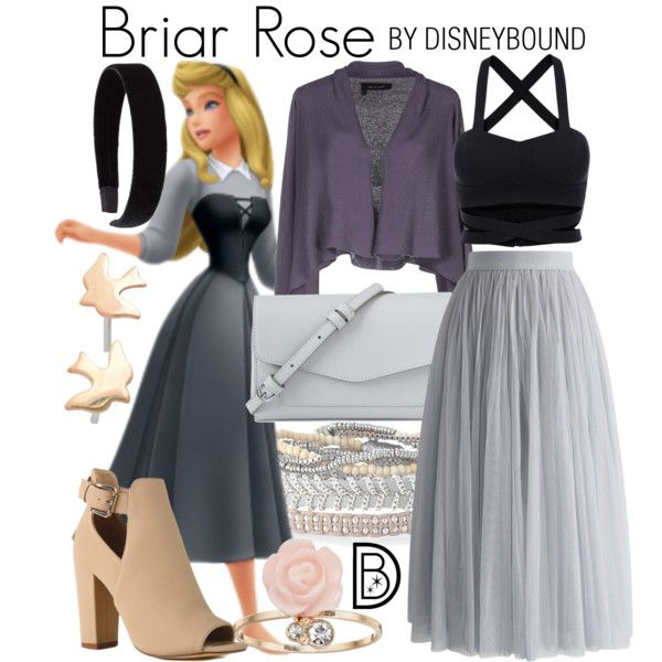 Briar Rose by leslieakay on Polyvore featuring Manila Grace, Chicwish, Vera Bradley, Olive Yew, Stella & Dot, LC Lauren Conrad, L. Erickson, disney, disneybound and disneycharacter