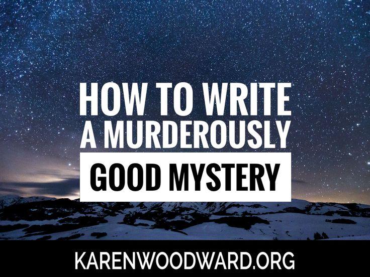 how to write a good detective novel