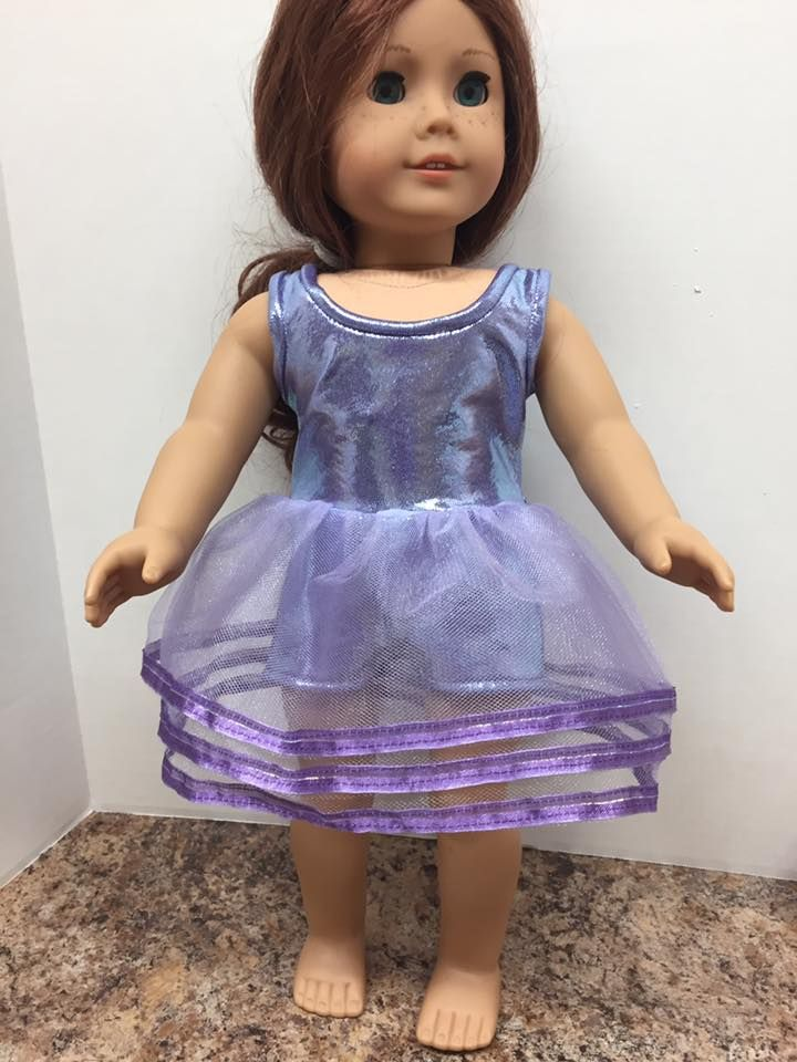 "Made from ""Dance Time"" for 18 inch dolls by Carol Greklek."