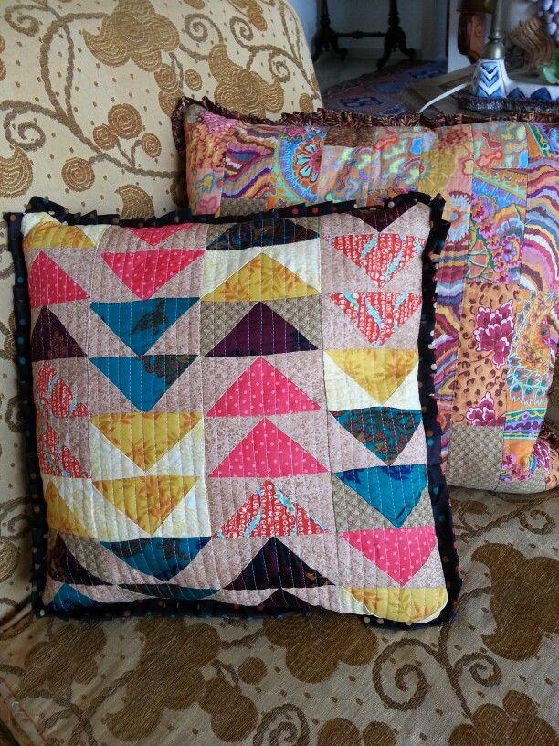 Flying geese cushion