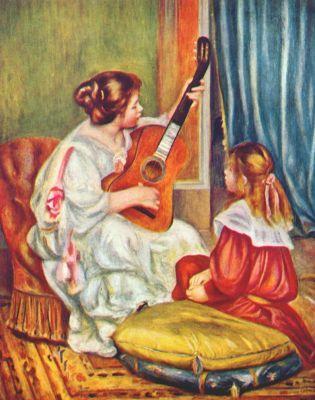 Пьер Огюст Ренуар. Женщина с гитарой