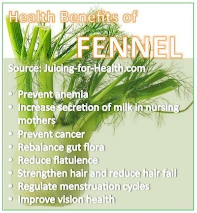 Health benefits of fennel.