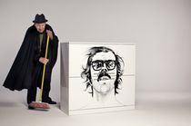 Credenza moderna / alta / laccata CHUCK CLOSE by Helyeah for ...