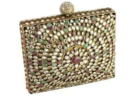 The moghul box full of kundan rubies emeralds...,
