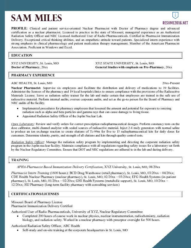 Pharmacist-resume-example-2016-4.jpg (638×825)